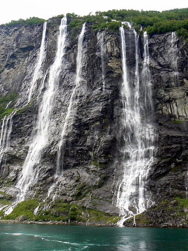 You'll visit Seven Sisters Waterfall on a cruise in Norway.