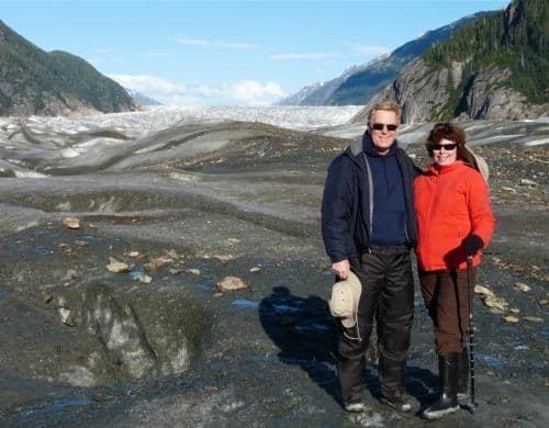 Walking on Baird Glacier in southeastern Alaska