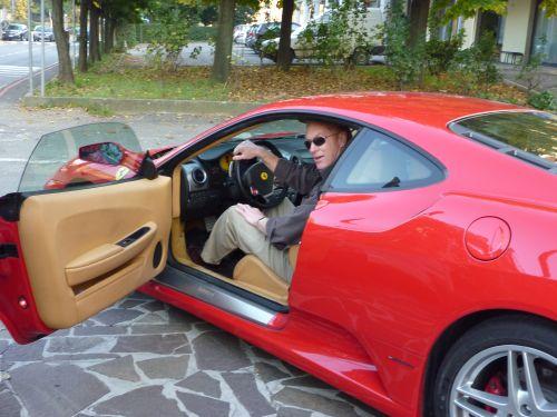 Ferrari test drive in Maranello, Italy