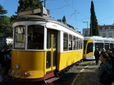 Trolley car ride on Lisbon cruise excursion