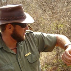 Meeting a dung beetle at Madikwe Game Reserve in South Africa