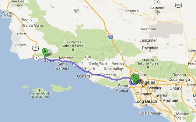 Santa Barbara to LA itinerary for a spring road trip on the California coast.