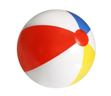 pack a beach ball to relieve lower back apin