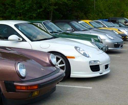Porsches at Black Rock 2013