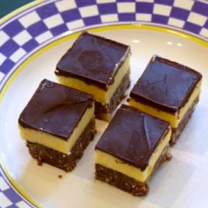 Sampling an original Nanaimo Bar on the Nanaimo Bar Trail