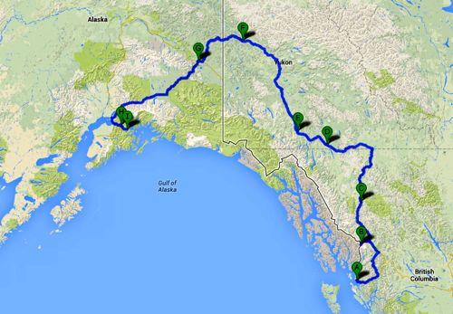 YukonHo! road trip itinerary