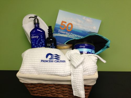 Enjoy a relaxing basket of products from Princess Cruises