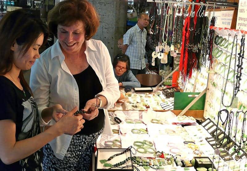 Holiday shopping at Hong Kong's Jade Market