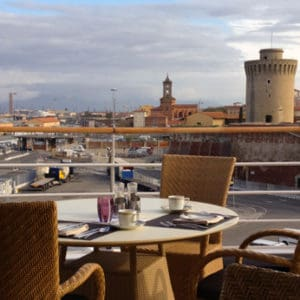 Breakfast view of Livorno, Italy