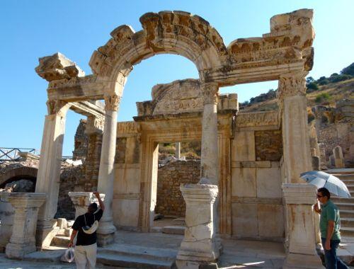 Temple of Hadrian in Ephesus, Turkey