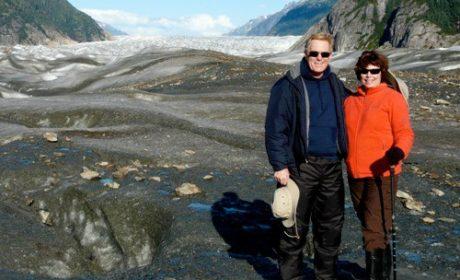 Alan and Donna Hull on Baird Glacier in southeastern Alaska