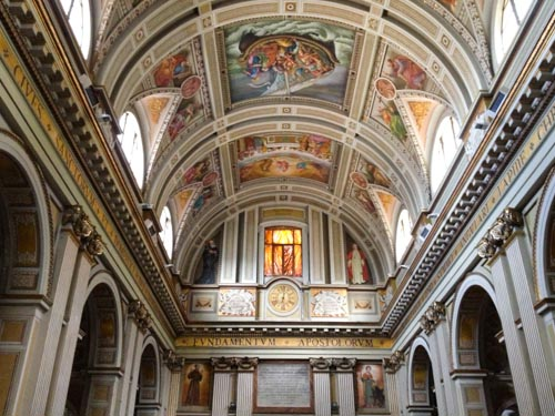 The Basilica of Sant'Andrea in Subiaco, Italy