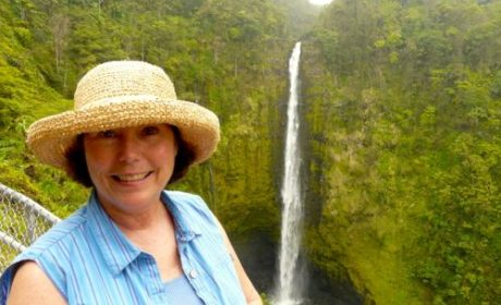 Donna Hull at Akaka Falls on the Big Island of Hawaii