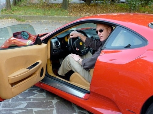 Alan test drive ferrari