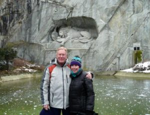 Donna and Alan Hull at the Lion in Lucerne