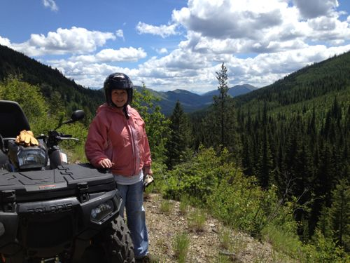 ATV ride in the Flathead National Forest near Polebridge, MT.