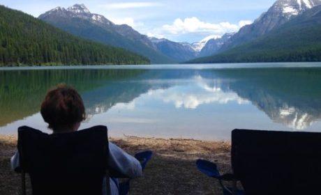 Picnic at Bowman Lake in Glacier National Park