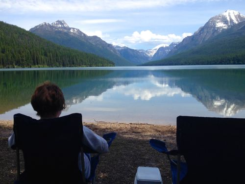 Picnic at Bowman Lake in Glacier National Park