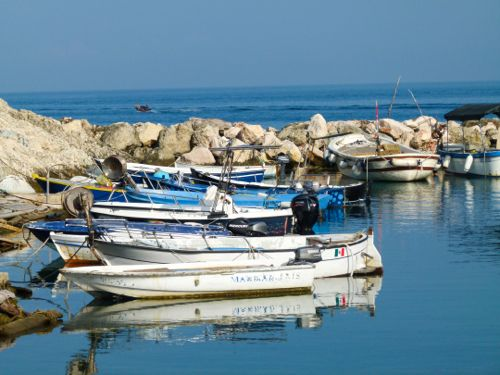 Boats in the harbor at San Domino in Italy's Tremiti Islands