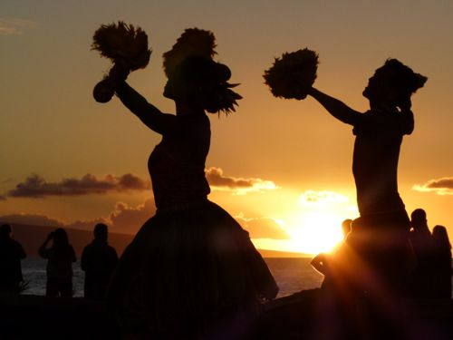 Old Lahaina Luau sunset