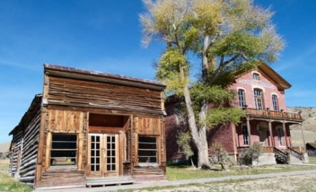 Hotel Meade at Bannack Ghost Town in Montana.