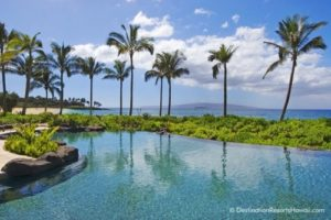 Wailea Beach Villas adult pool comes with a Maui view.
