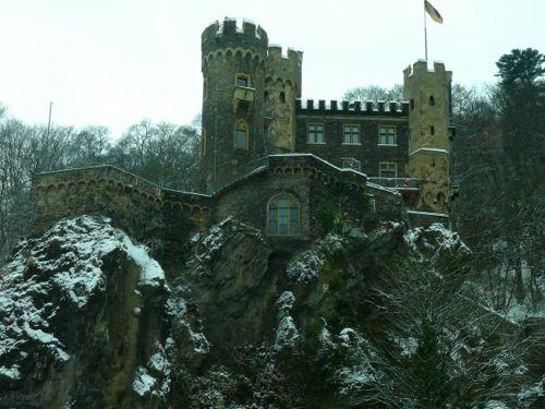 Rheinstein castle in the Rhine Gorge