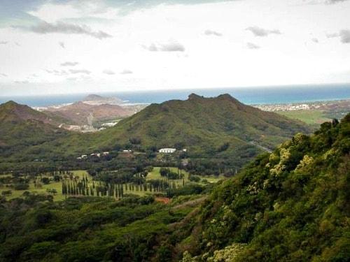 Nu'uanu Pali on Oahu Island