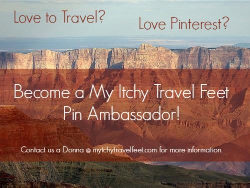 My Itchy Travel Feet Pin Ambassador