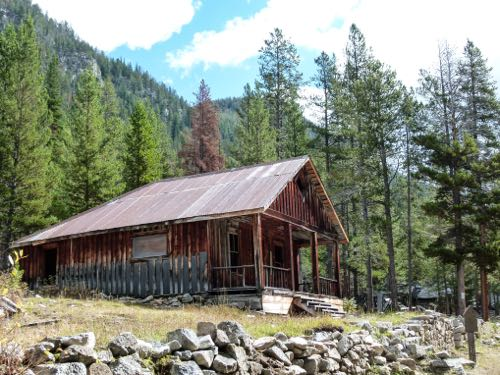 Hike the short trail to Coolidge Ghost Town in Montana