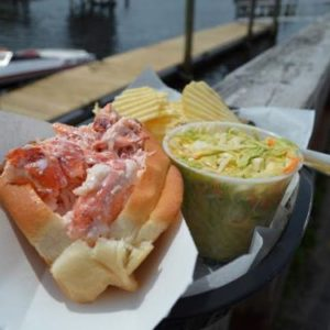 Lobster roll in Ogunquit
