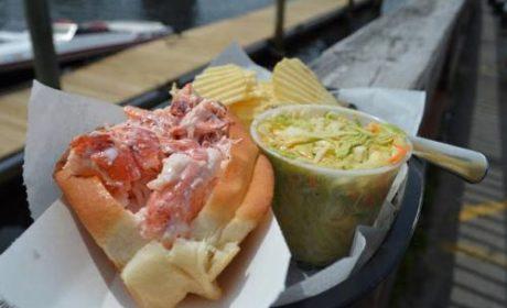 Lobster roll in Ogunquit