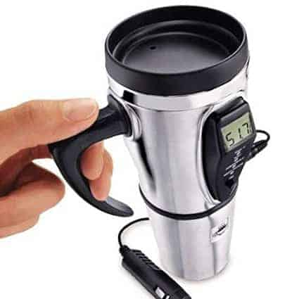 Keep your coffee hot with the Electric Smart Mug. Perfect for a fall getaway. #fall #gear