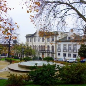 Lovely square in Guimaraes, Portugal.