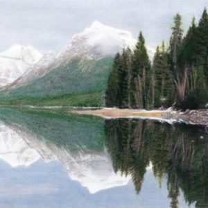 Coloring Glacier National Park, A Grayscale Coloring Book for Travelers