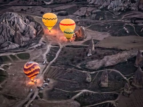 Soaring over Cappadocia in a Hot Air Balloon