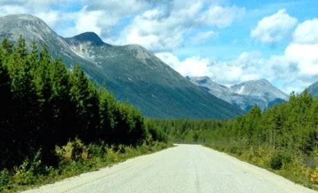 Cassiar Highway in northern British Columbia