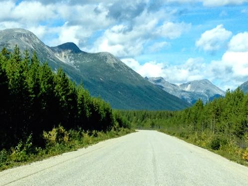 Cassiar Highway in northern British Columbia