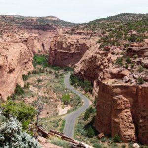 Driving the Burr Trail is a fun experience in southern Utah.