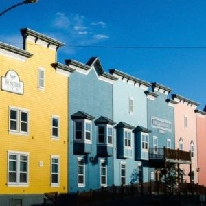 Colorful streets of Dawson City, Yukon Territory