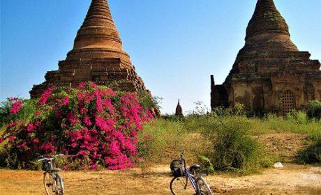 Scenic stupas