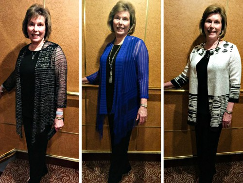 Three cruise wear outfits
