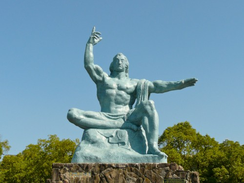 peace statue in Nagasaki