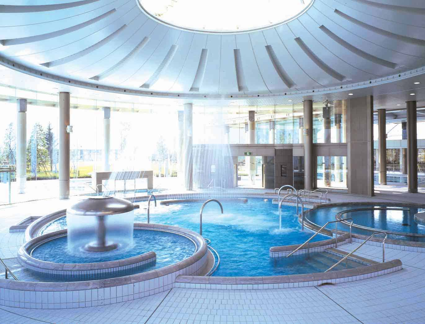 enclosed hotel swimming pool