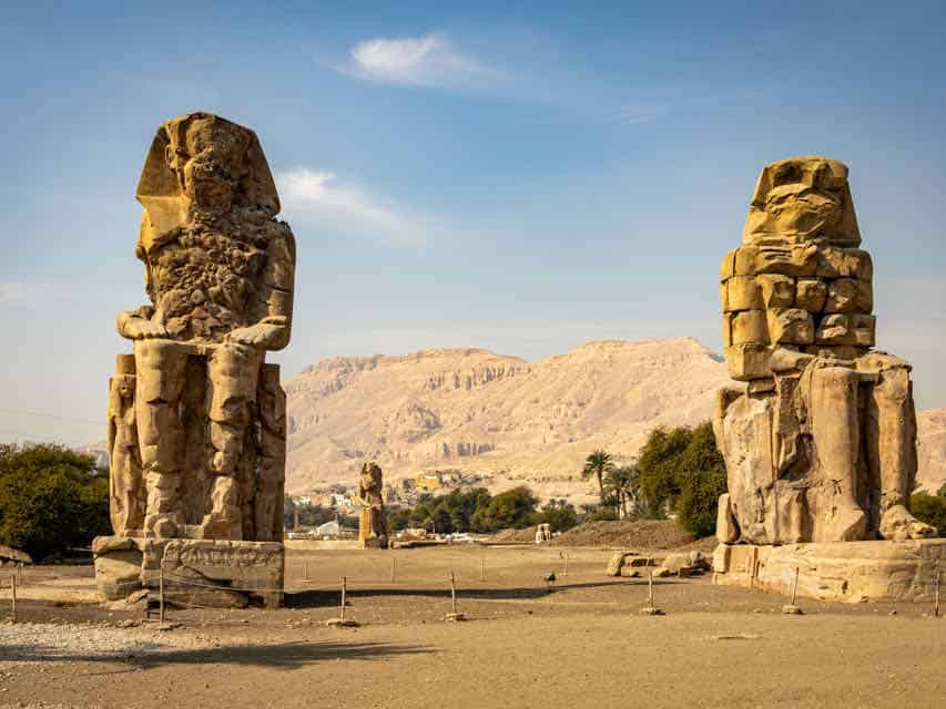 Two giant statues in Thebes