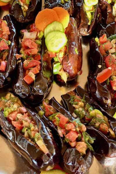 Colorful Mediterranean food display