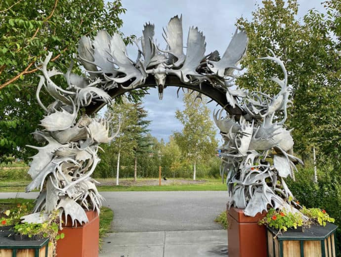 Arch made of moose antlers